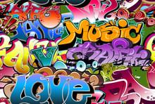 Graffiti Seamless Background. ...