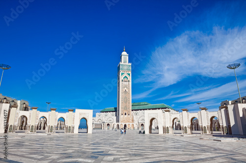 Fotografie, Obraz  Hassan II Mosque Casablanca