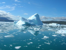 Melting Icebergs By The Coast Of Greenland,
