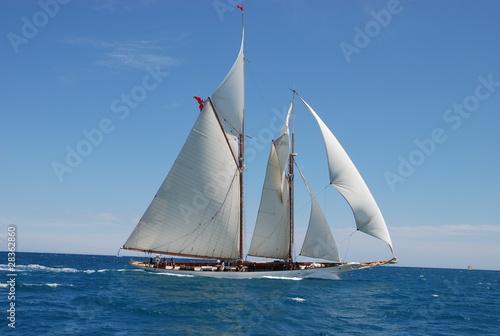 Keuken foto achterwand Schip classic yacht under full sail