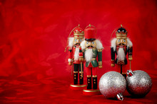 Nutcrackers On Red
