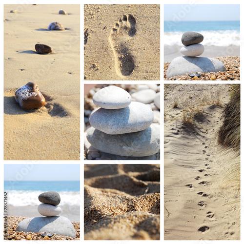 Photo sur Plexiglas Zen pierres a sable composition zen