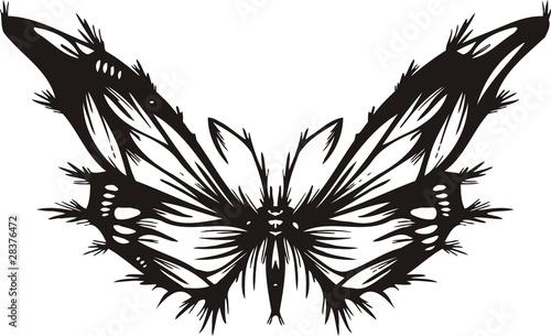 Photo sur Toile Empreintes Graphiques Tribal Butterflies.