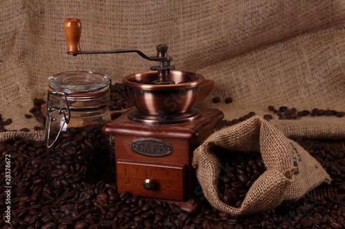 Keuken foto achterwand Koffiebonen Hot coffee and chocolate!