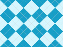 Seamless Argyle Pattern In Blue Rhombuses