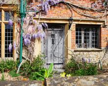 Wooden Front Door Of A Traditi...