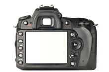 Back Of A Modern DSLR Camera, ...
