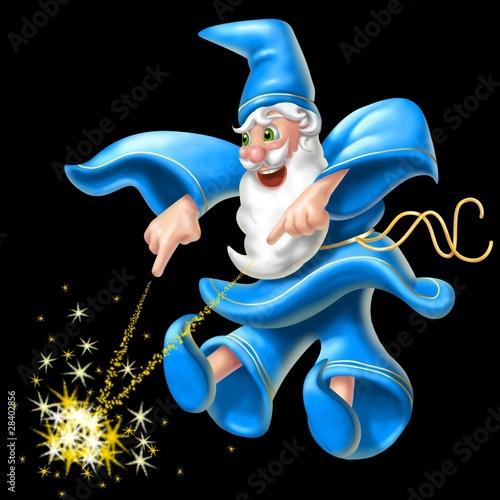 Spoed Fotobehang Feeën en elfen mago dispettoso2