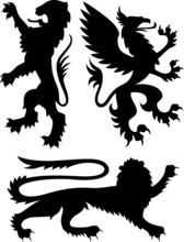 Heraldic Classic Royal Crest Griffin
