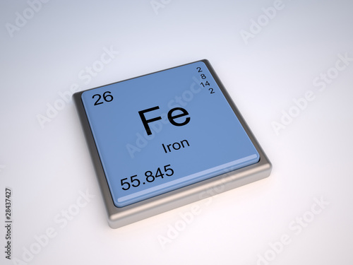Iron chemical element of the periodic table with symbol fe buy iron chemical element of the periodic table with symbol fe urtaz Images