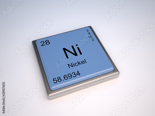Nickel Chemical Element Of The Periodic Table With Symbol Ni Buy