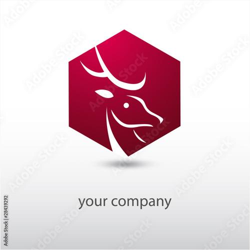 Photo  logo entreprise, logo cerf