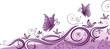 Ranke, flora, filigran, Blumen, background, lila, violett
