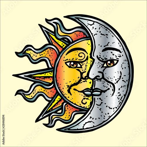 Obraz sole luna oro argento - fototapety do salonu