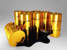 Golden Barrel Of Oil