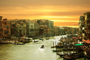 FototapetaVenice,Sunset on the canal grande
