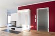 canvas print picture - Wohnraum mit Kamin