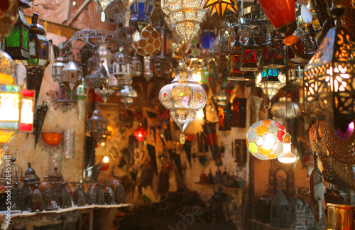 Poster Morocco Oriental lamps