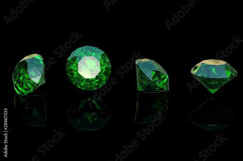 Round emerald Canvas Print