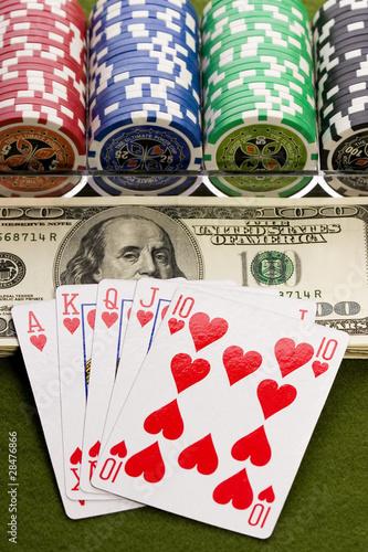 Poker cards плакат
