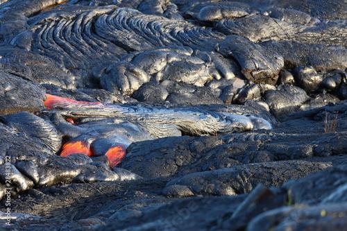 Staande foto Vulkaan Lava flow on Big Island, Hawaii