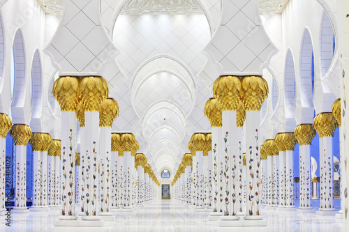 Canvas Prints Abu Dhabi Interiors of Sheikh Zayed Mosque, Abu Dhabi, UAE