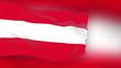 Austria flag slowly waving. Blurred background. Seamless loop.