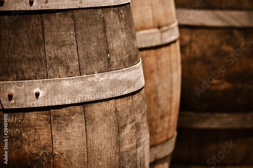 Obraz na plátně Wine Barrel