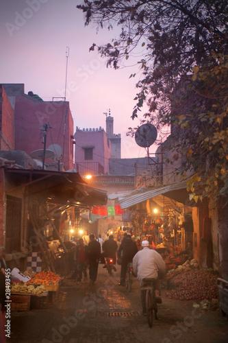 Foto op Plexiglas Marokko Marrakech by night
