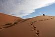 Fußspuren in Sanddüne