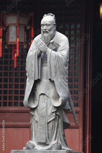 Valokuva  Statue of Confucius at Temple in Shanghai, China