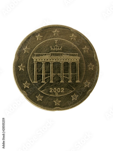 Fotografia  obverse side of 20 euro cent coin