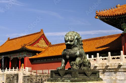 Foto op Aluminium Beijing Bronze lions