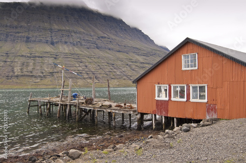 Foto op Aluminium Arctica Caseta de pescadores