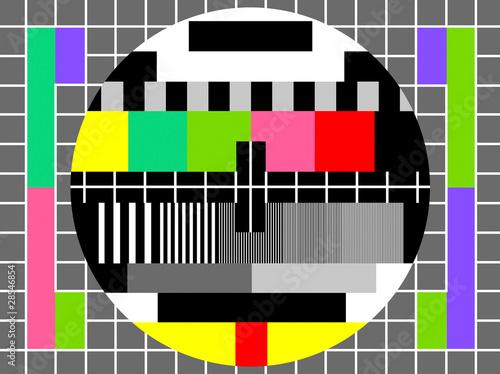 Fototapeta Color test for television obraz na płótnie