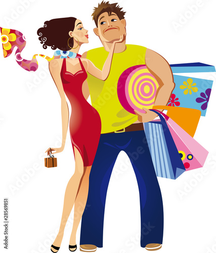 Poster Superheroes shopping pair