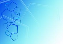 Blue Pentagon Background