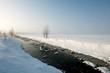 river wintertime landscape snow