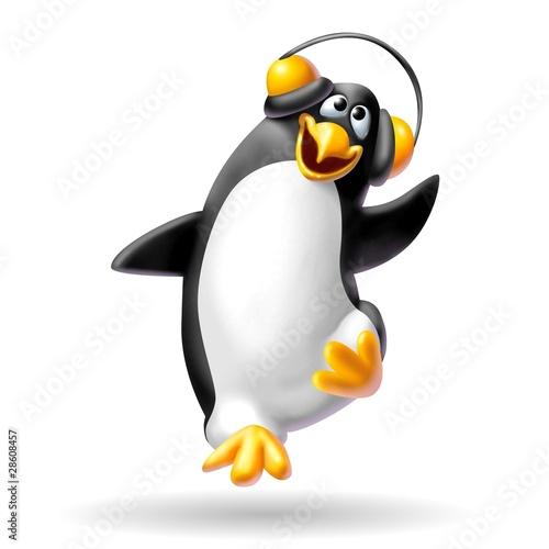 Fotografie, Obraz  pinguino musicale