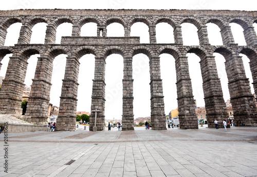 Roman Aqueduct Bridge of Segovia, first Century AD. Fototapet