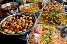 Variety Of Thai Food In Market