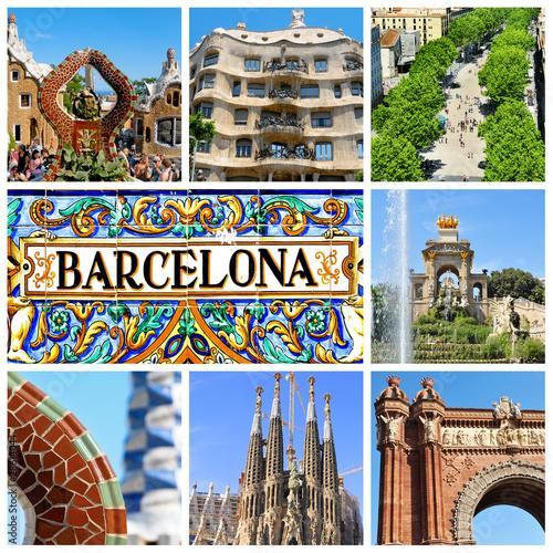 In de dag Barcelona barcelona collage
