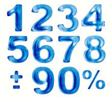 цифры из воды