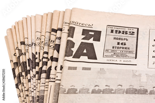 Foto op Plexiglas Kranten Old russian newspapers