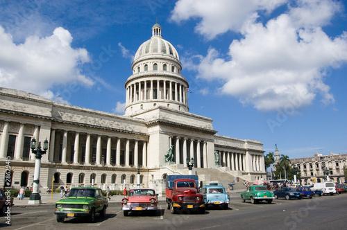 Türaufkleber Autos aus Kuba Capitolio, Havana, Cuba