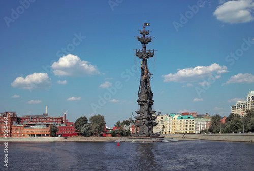 Tuinposter Monument to Peter the Great in Moscow.