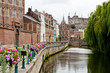 canvas print picture - Historic romantic place in Ghent