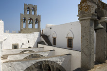 Patmos - Bell Tower And Arches Of The Monastery Of St. John