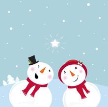 Valentine´s Day: Snowman & Sn...