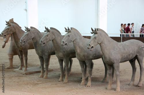 Poster Xian cavalli: di terracotta
